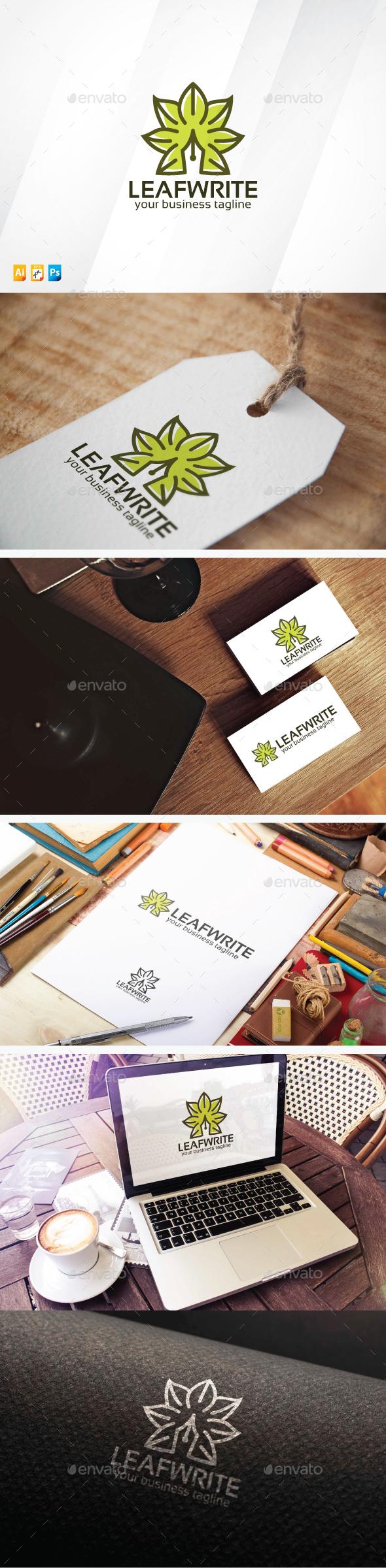 Leaf Write - Symbols Logo Templates