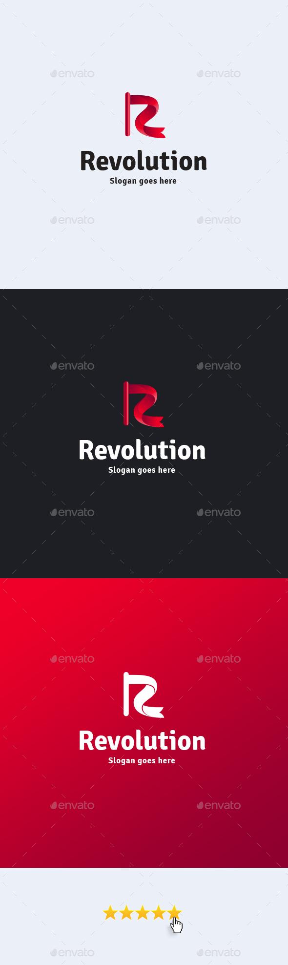 Revolution • Letter R Logo Template - Letters Logo Templates
