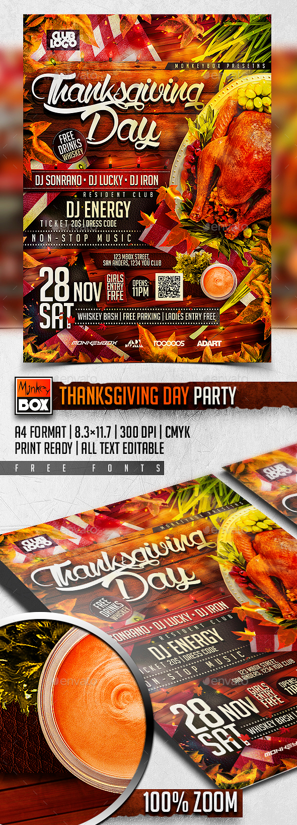 Thanksgiving Day Party - Holidays Events