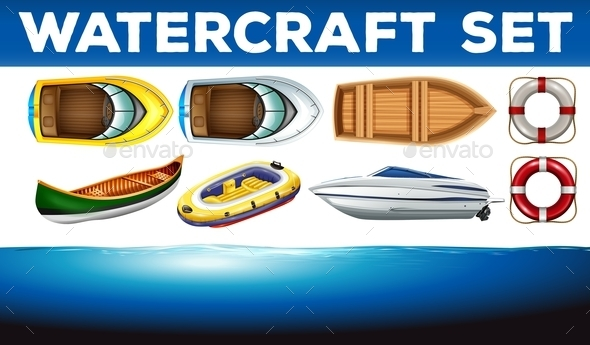 Different Kinds of Watercrafts - Miscellaneous Conceptual