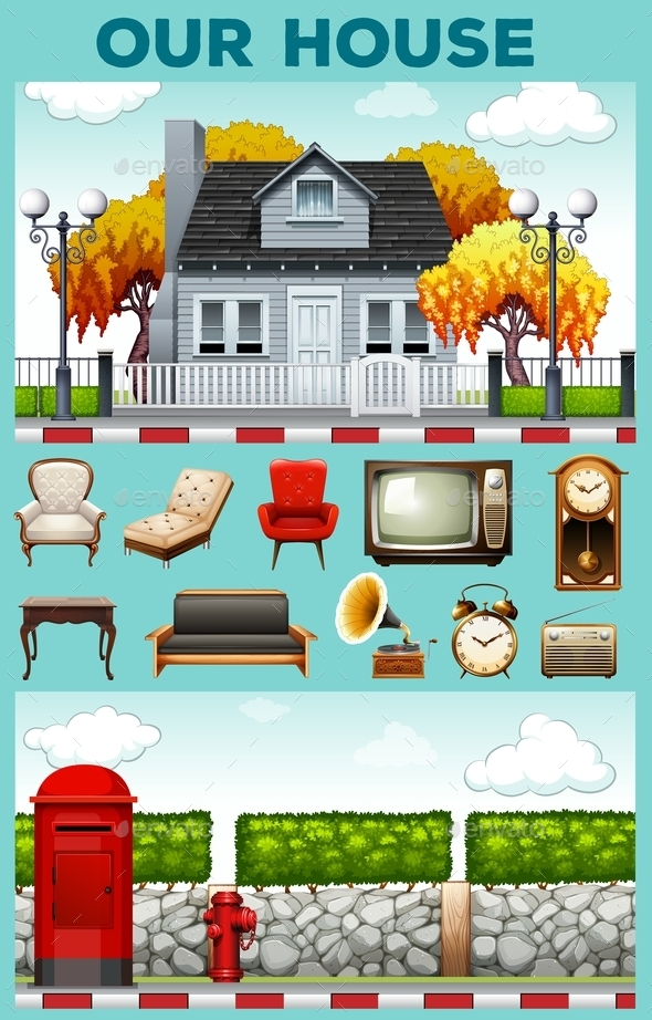 House and Furniture - Miscellaneous Vectors