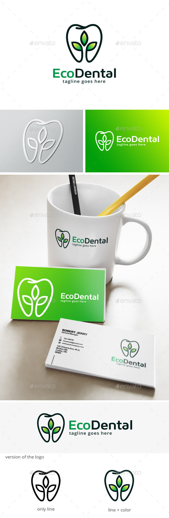 Green Dental Logo - Humans Logo Templates