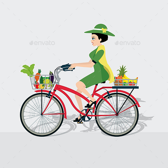 Bike with Vegetables - Food Objects