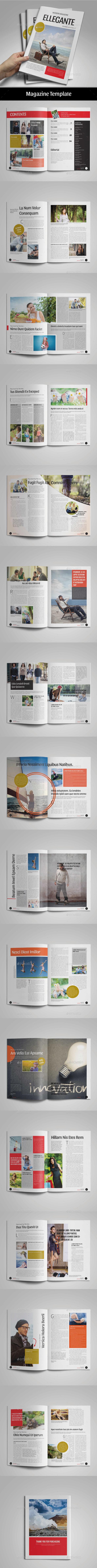 Ellegante Magazine Template - Magazines Print Templates