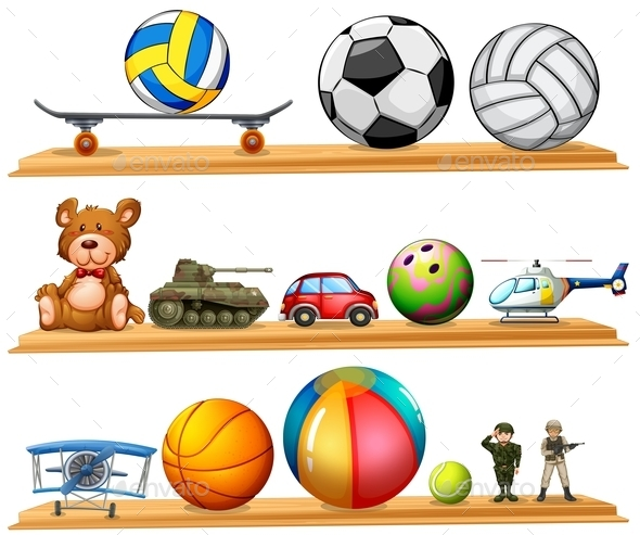Ball Set and Other Toys - Animals Characters