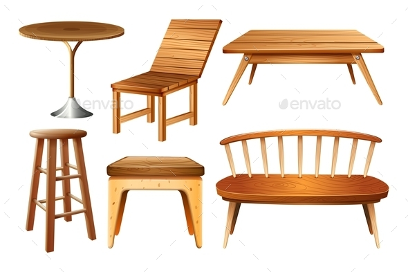 Set of Chairs and Tables - Miscellaneous Conceptual
