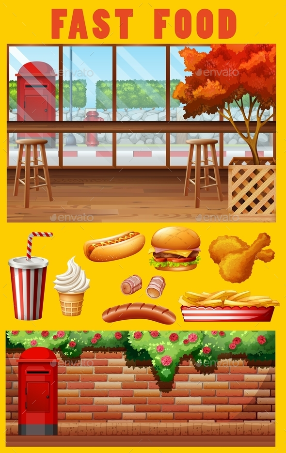 Fastfood and Restaurant - Food Objects
