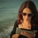 Woman Uses Tablet Pc At The Seaside  - VideoHive Item for Sale