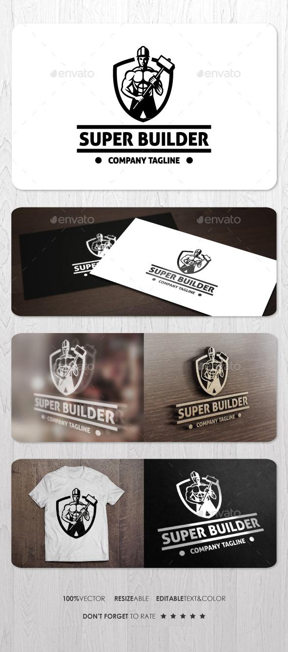 Super Builder Logo - Humans Logo Templates