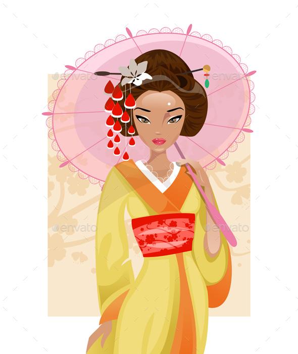 Japanese Geisha - People Characters