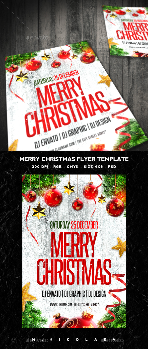 Merry Christmas Flyer - Clubs & Parties Events