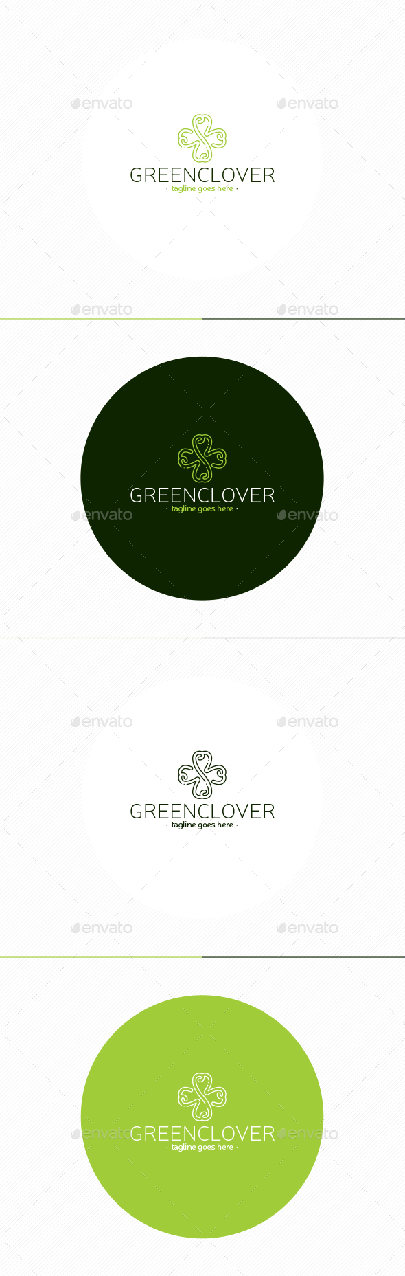 Green Clover Logo - Nature Logo Templates
