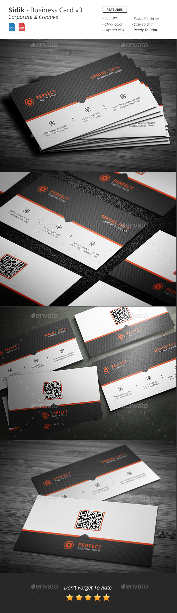 Sidik - Creative Business Card v3 - Corporate Business Cards