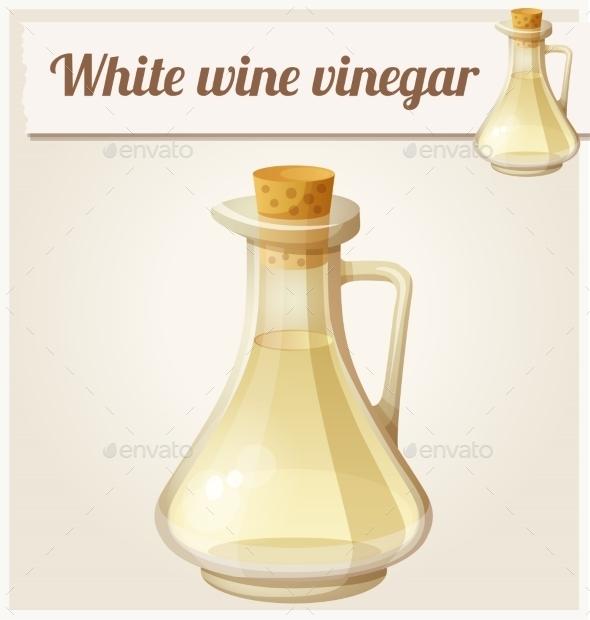 White Wine Vinegar - Food Objects