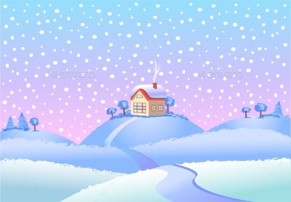 Winter Landscape in Day - Landscapes Nature