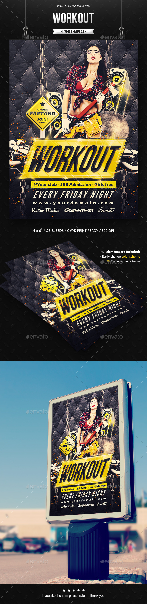 Workout - Flyer - Clubs & Parties Events