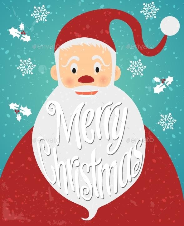 Christmas Greeting Card. Lettering, Vector - Christmas Seasons/Holidays