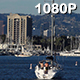Sailboat Floats into Marina Del Rey - VideoHive Item for Sale