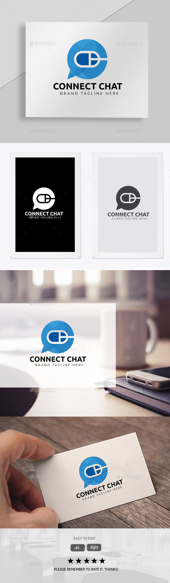 Connect Chat - Symbols Logo Templates