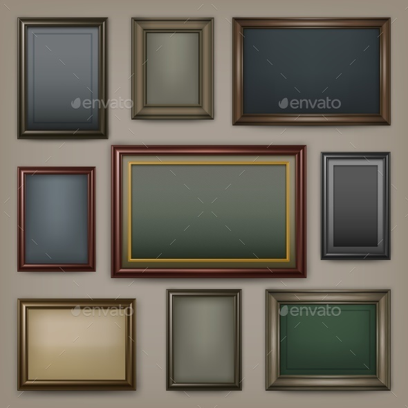 Wooden Frames on Dark - Miscellaneous Vectors