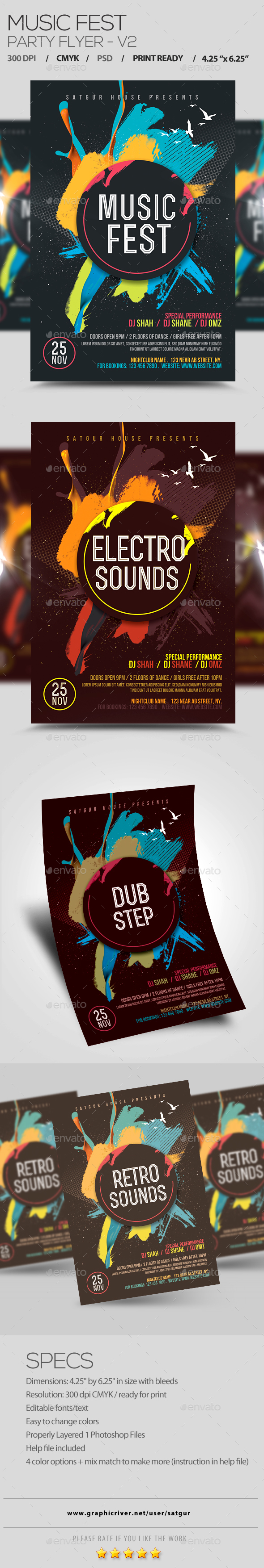 Music Fest Flyer V2 - Clubs & Parties Events