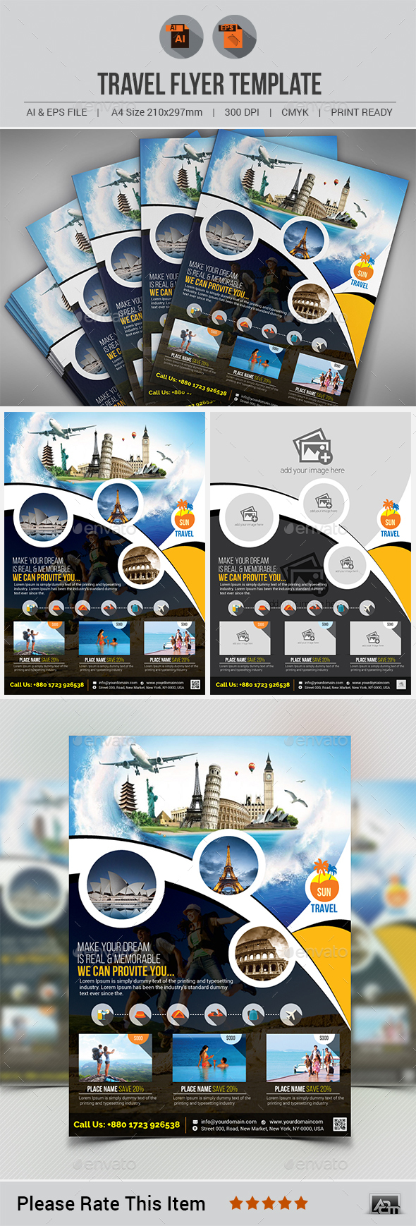 Travel Flyer Template V5 - Holidays Events
