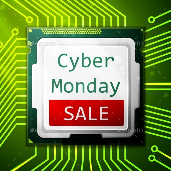 Cyber Monday Sale Poster - Retail Commercial / Shopping