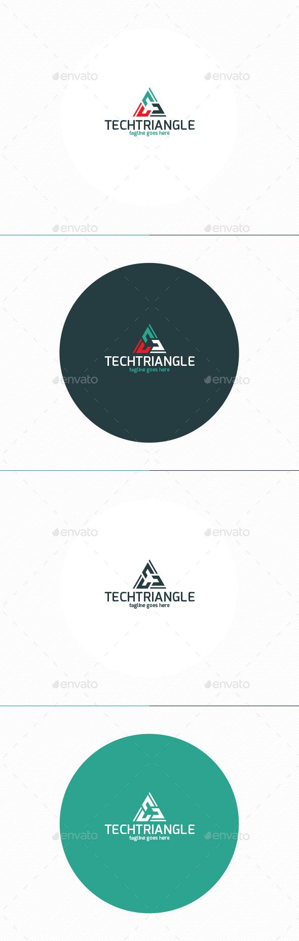Tech Triangle Logo - Symbols Logo Templates