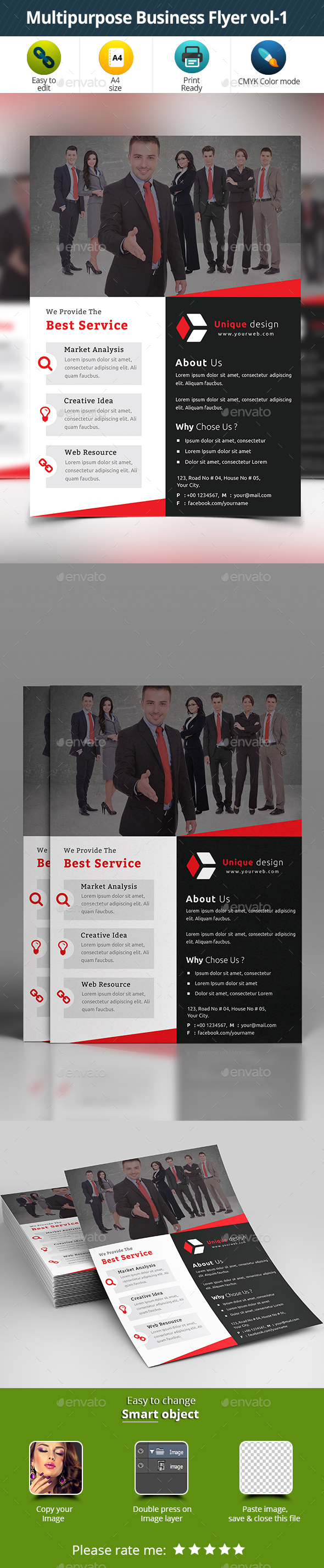 Multipurpose Business Flyer vol-1 - Corporate Flyers