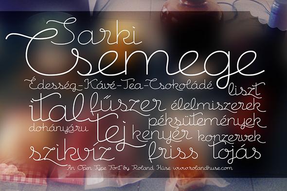 Csemege - Cursive Script