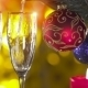 Christmas Tree With Two Glasses And Pouring - VideoHive Item for Sale