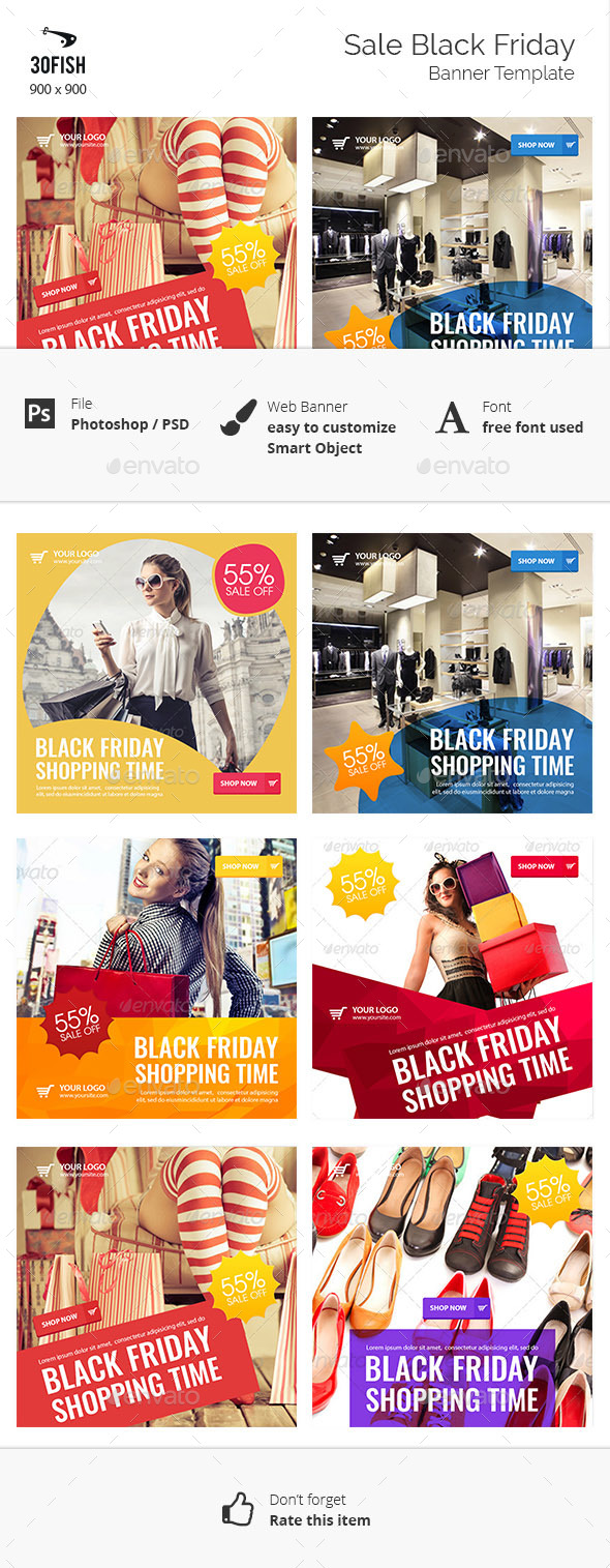 Sale Black Friday - Banners & Ads Web Elements