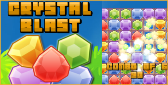 Crystal Blast - HTML5 Match-3 - CodeCanyon Item for Sale
