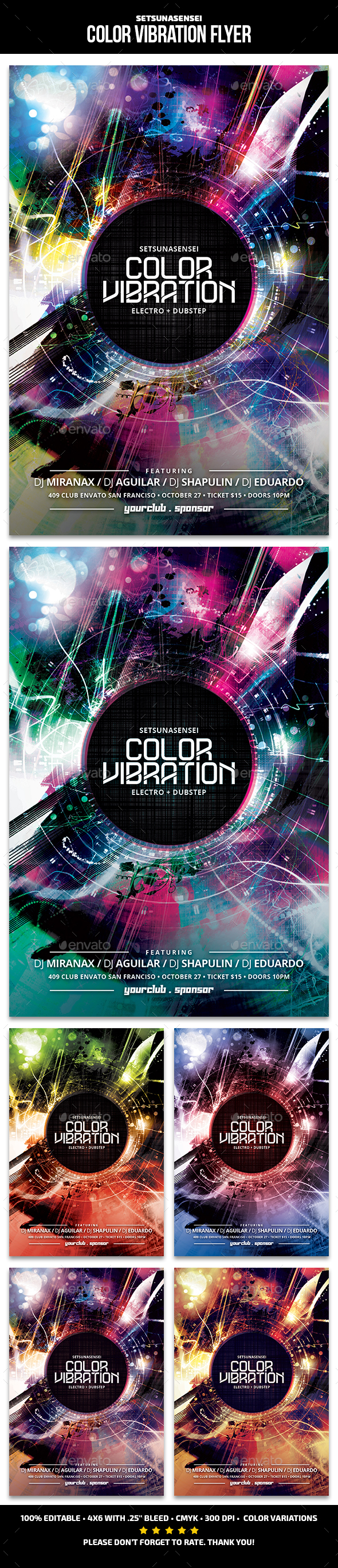 Color Vibration Flyer - Clubs & Parties Events