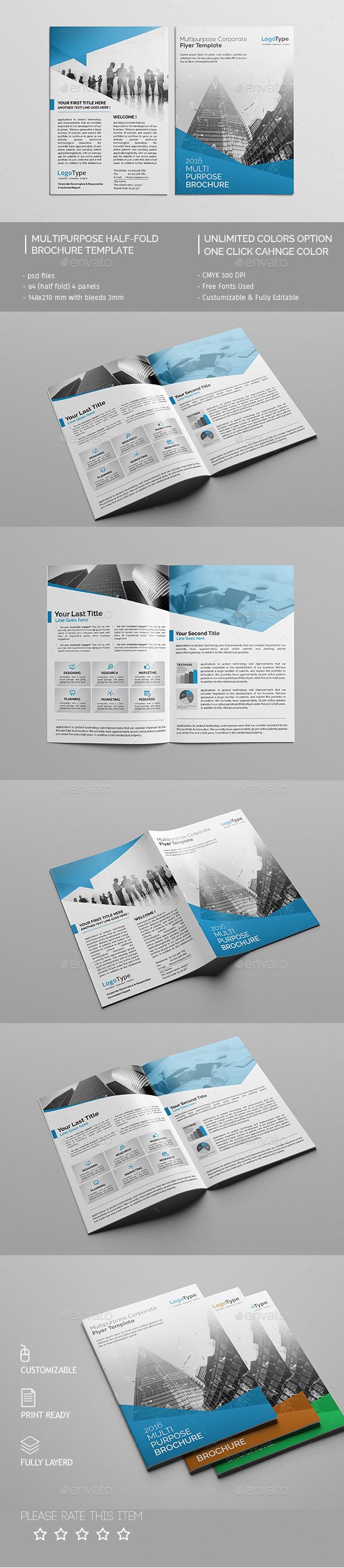 Corporate Bi-fold Brochure Template 02 - Corporate Brochures