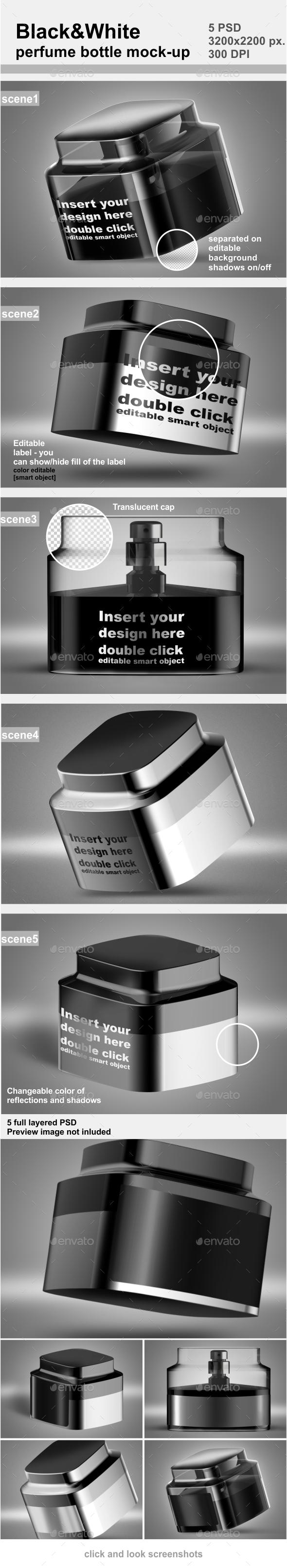 Perfume Bottle Mock-up - Beauty Packaging