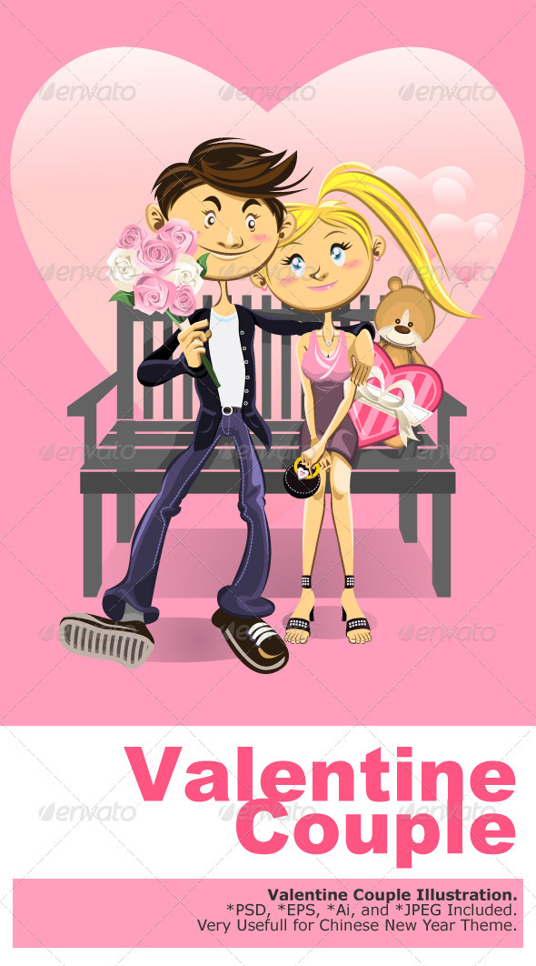 Valentine Couple  - Valentines Seasons/Holidays