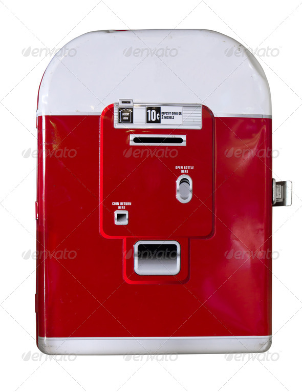 Vintage soda machine - Stock Photo - Images