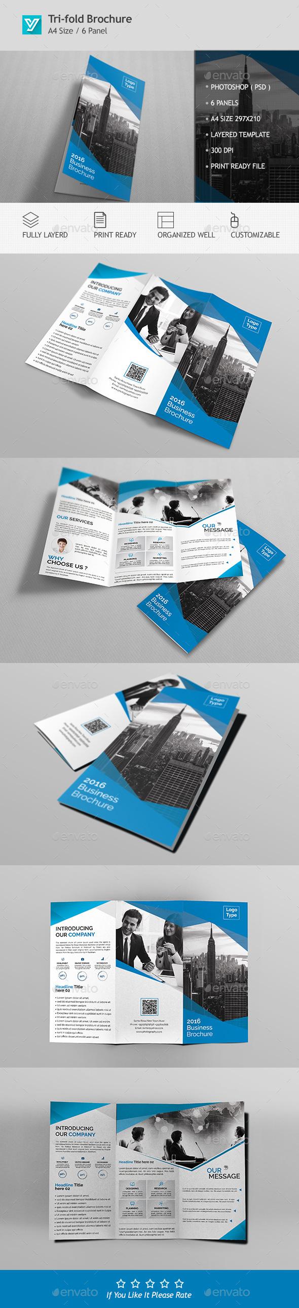 Corporate Tri-fold Brochure Template 05 - Corporate Brochures