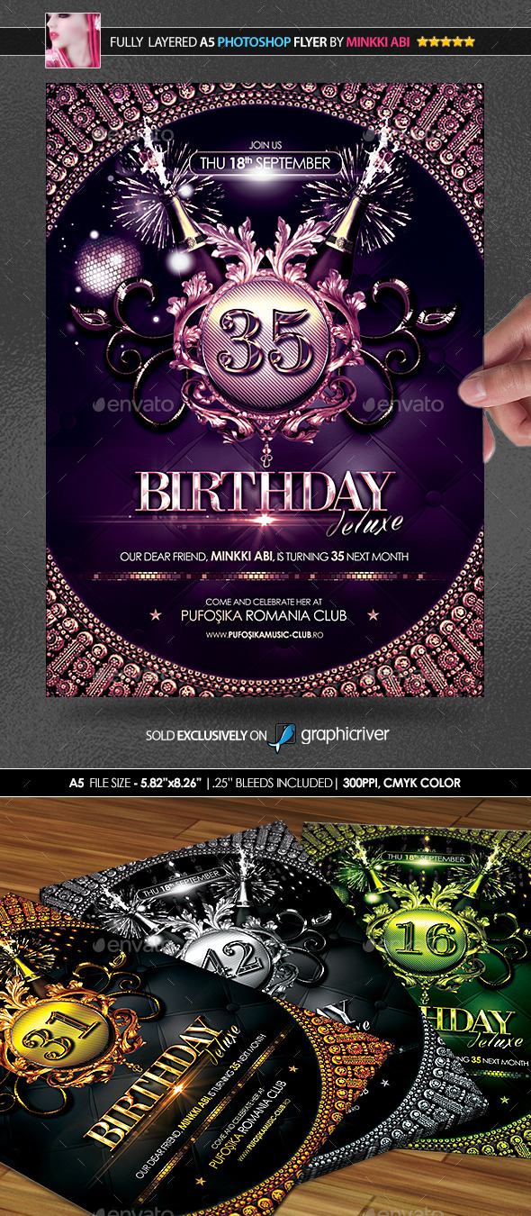 Birthday deluxe posterflyer by minkki graphicriver birthday deluxe posterflyer events flyers stopboris Gallery