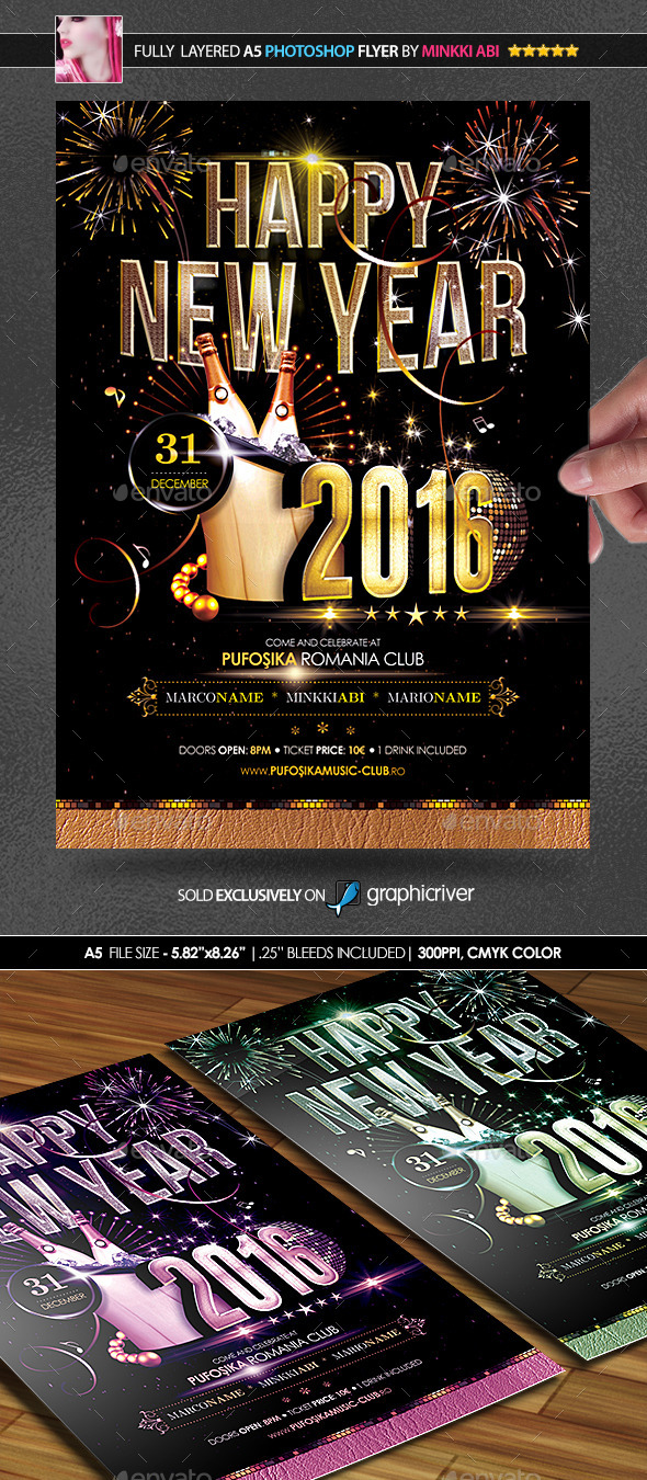 2016 New Year Poster/Flyer - Flyers Print Templates
