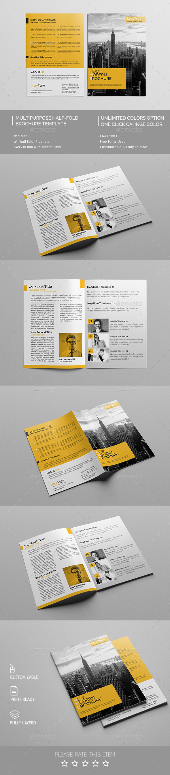 Corporate Bi-fold Brochure Template 04 - Corporate Brochures