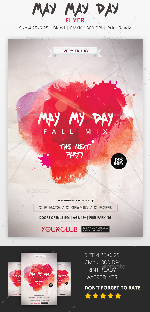 May My Day - PSD Flyer - Flyers Print Templates