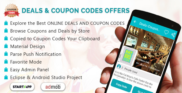 Deals & Coupon Codes Offers with Material Design - CodeCanyon Item for Sale