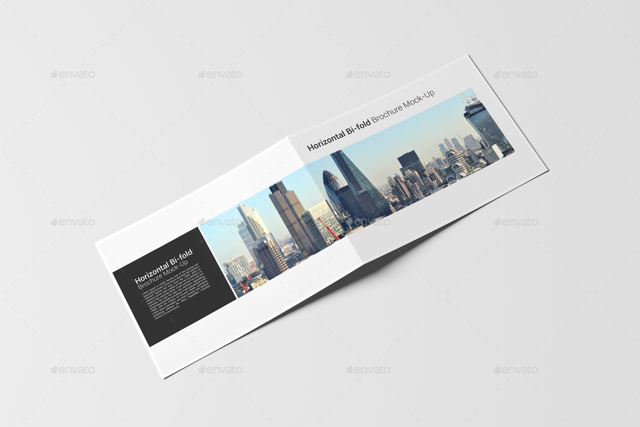 A4 Bi-fold Horizontal Brochure Mock-Up by AlkDesign | GraphicRiver