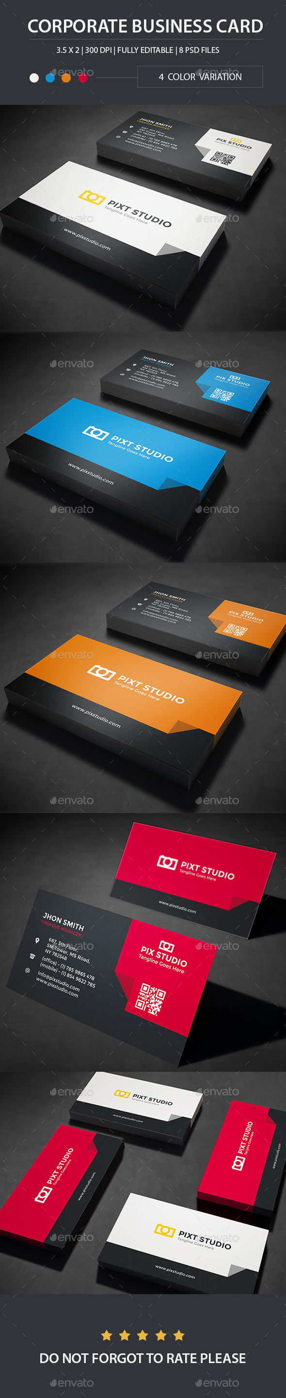 Corporate Business Card | Vol -001 - Business Cards Print Templates