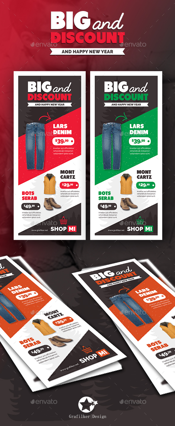 Shopping Roll-Up Templates - Signage Print Templates