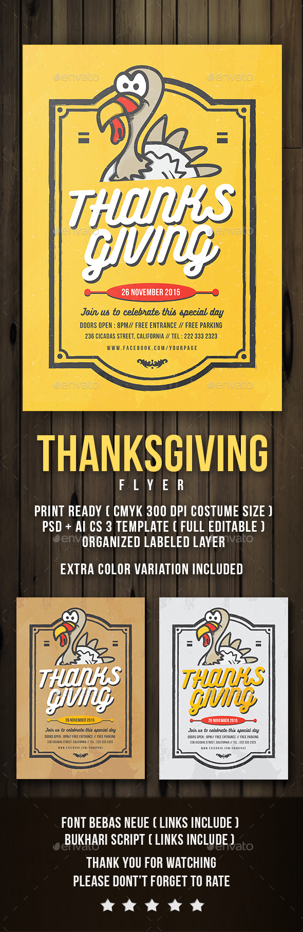 FLYER THANKSGIVING - Events Flyers