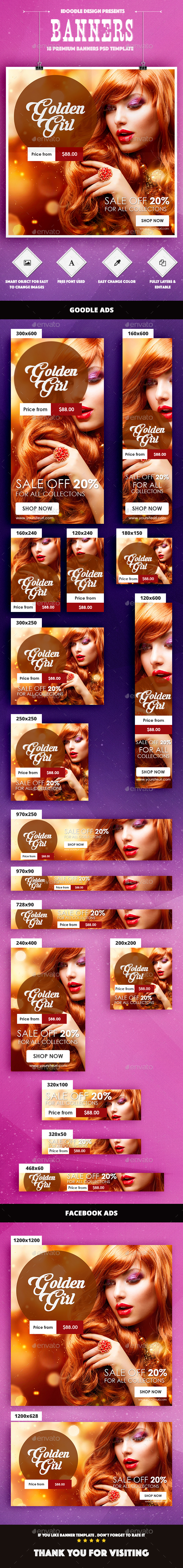 Fashion Banner Ad - Banners & Ads Web Elements