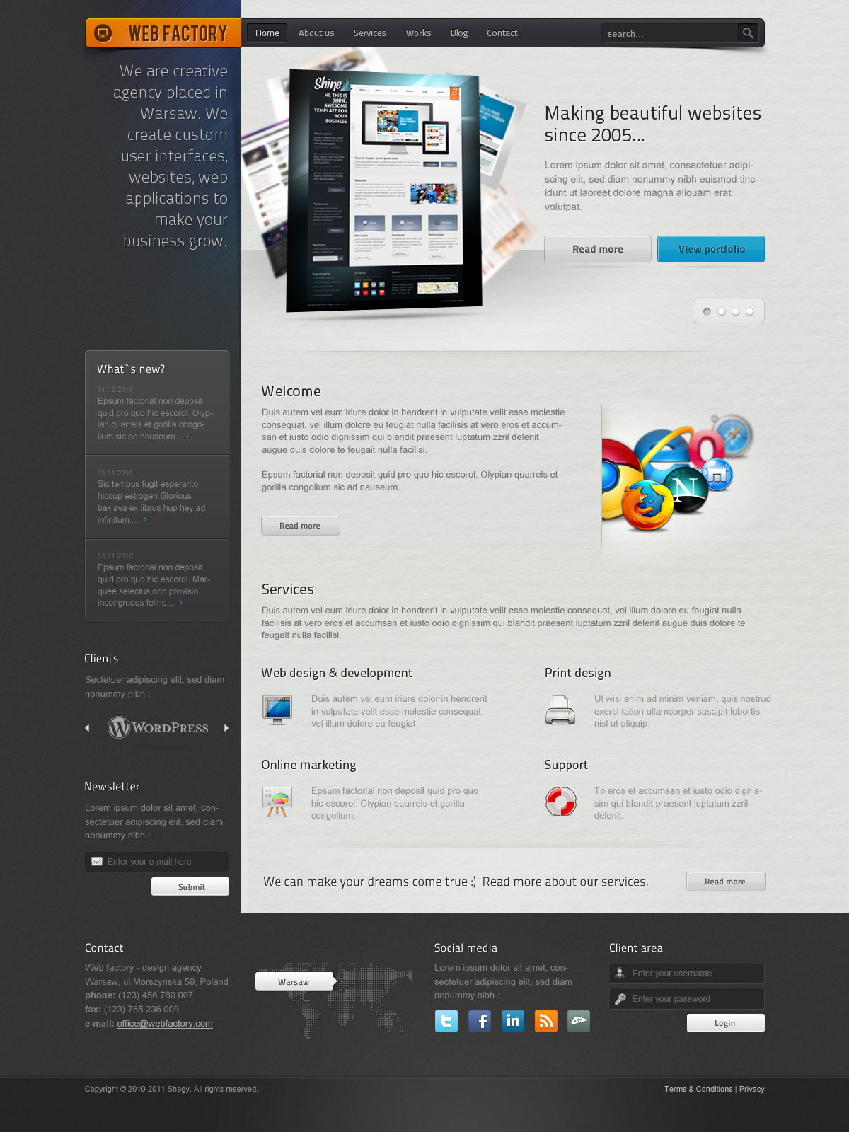 Web factory - Modern & Unique HTML Template by Shegy | ThemeForest